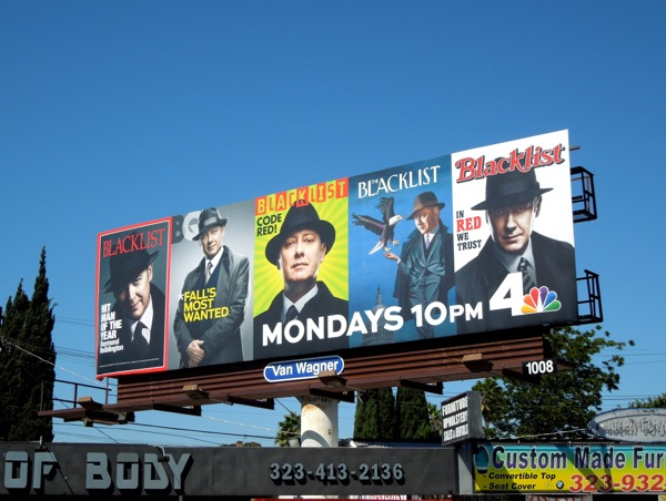 Blacklist 2 magazine cover homage billboard