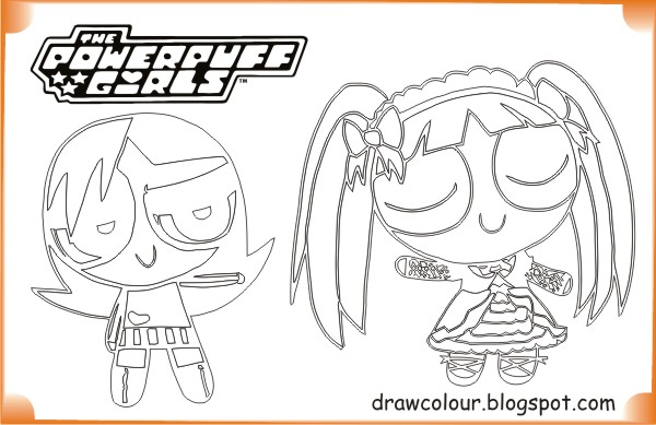 printable-the_powerpuff_girls-evil_and_blossom-coloring-pages