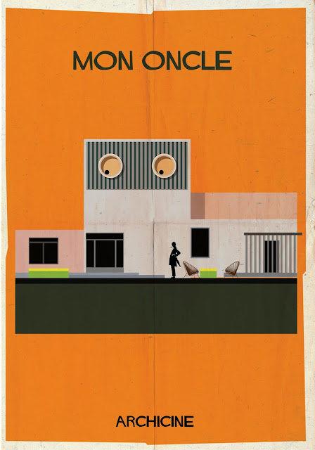 {Art} Architecture in film: Archicine by Frederico Babina | Rue du chat qui peche | Mon oncle