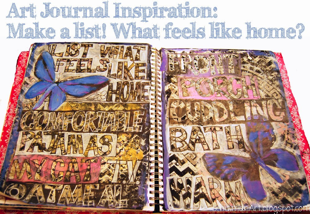 Art Journaling by @SchulmanArt