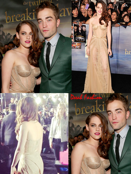 Busana Kristen Stewart Transparan Premier Twilight Saga-Breaking Dawn Part 2