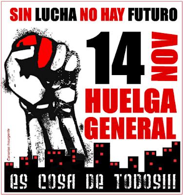 strike huelga 14n 14 noviembre master tutak radio