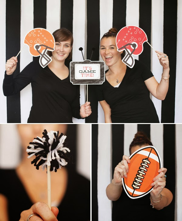 Stylish Super Bowl Party Decorating Ideas backdrop