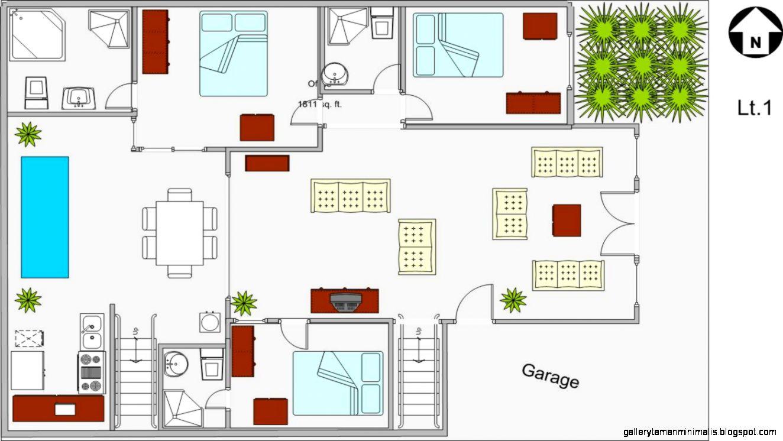 Sketsa Rumah Idaman Gallery Taman Minimalis