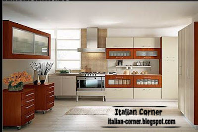 modern italian kitchen cabinets designs brown white style 2013