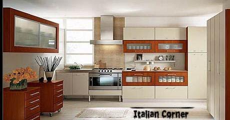 Modern Italian Kitchen Cabinets Designs Colors 2013