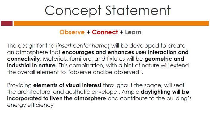 interior design concept statement example