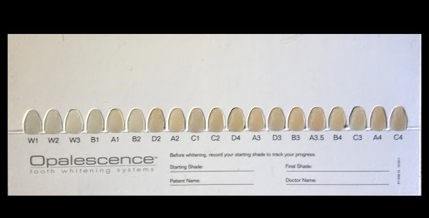photo regarding Tooth Shade Chart Printable known as A3 Coloration Tooth