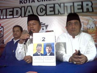 Hasil Sementara Kemenangan Ano-Azis Real Count ORARI  Lokal Cirebon