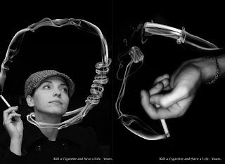 Iklan-iklan kreatif pada kanye anti-rokok