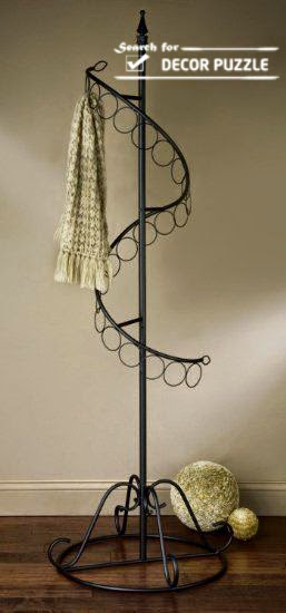 creative DIY scarf display rack, spiral scarf hangers