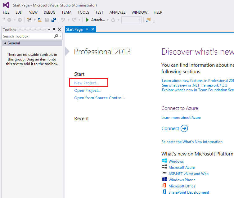 VISUAL STUDIO 2013