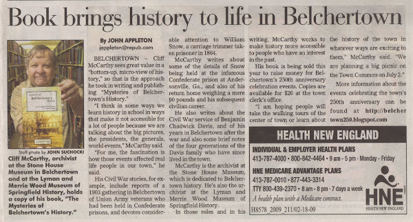 """Mysteries of Belchertown's History"""