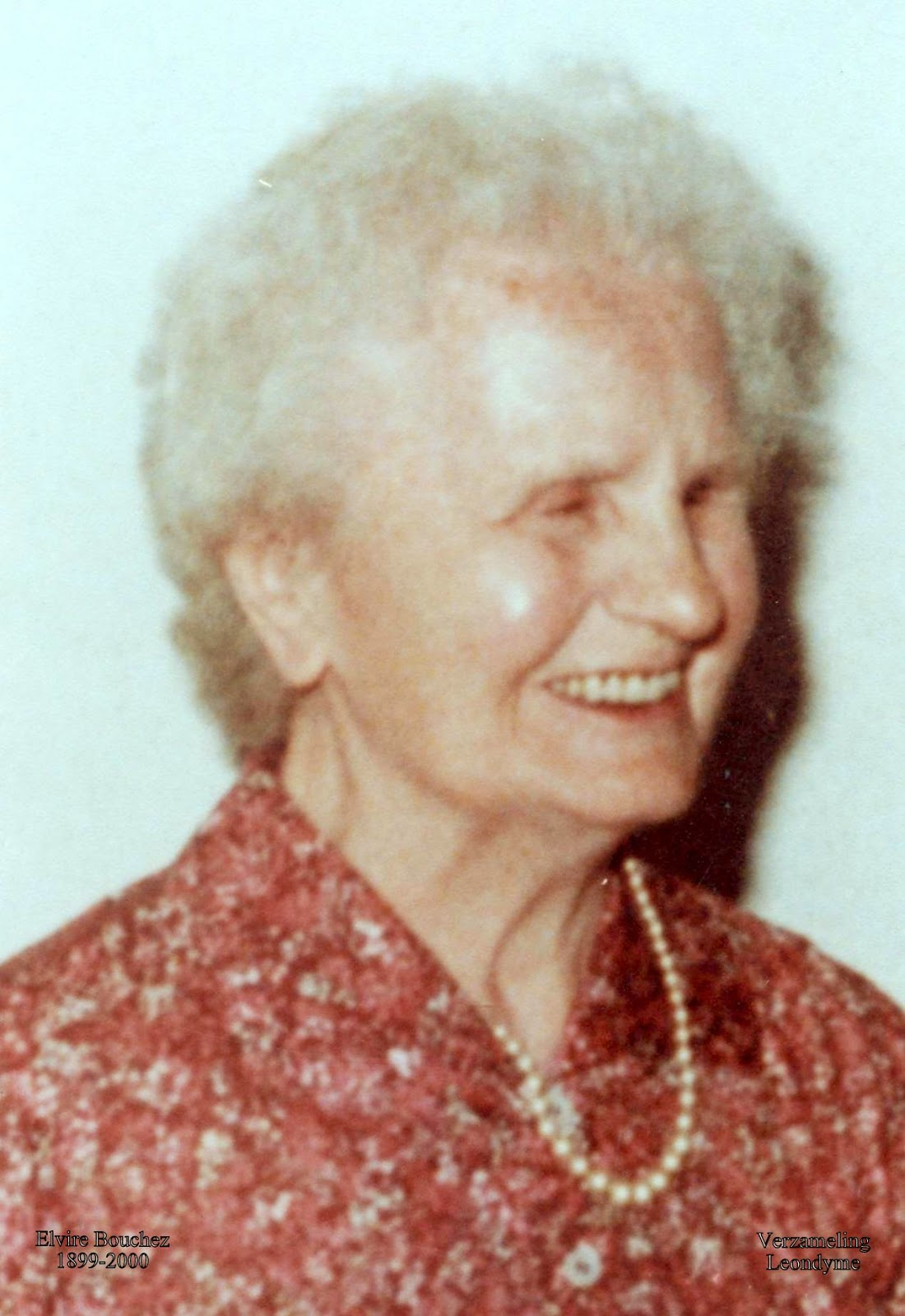 Bidprentje, Elvire Bouchez 1899-2000