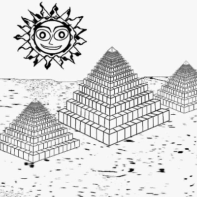Egyptian Pyramids Coloring Page