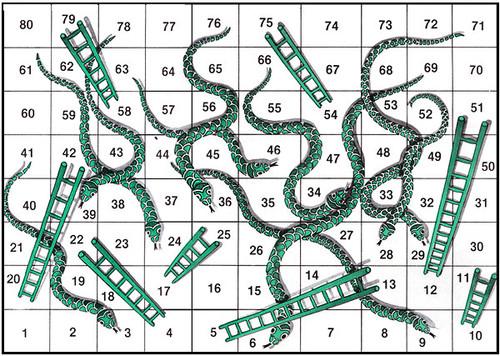 Tramoyam3 serpientes y escaleras el juego de las voces for Escaleras y serpientes imprimir
