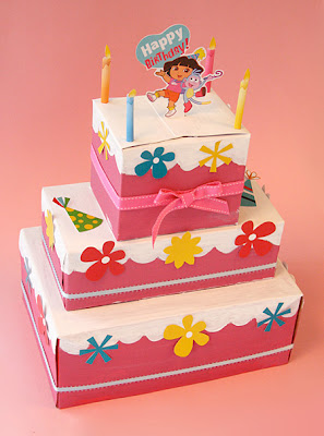 Dora Birthday Cake Craft