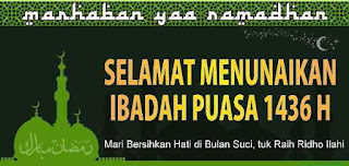 Download Spanduk Ucapan Puasa 1436 H