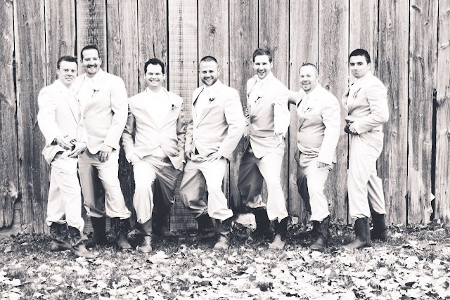 rustic wedding groomsmen shot