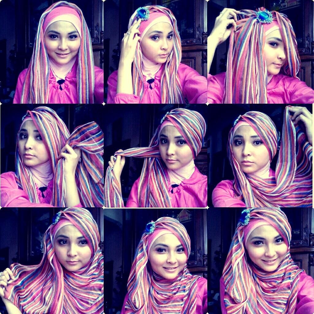 Cut Raneey Kreasi Hijab Pashmina Untuk Hang Out