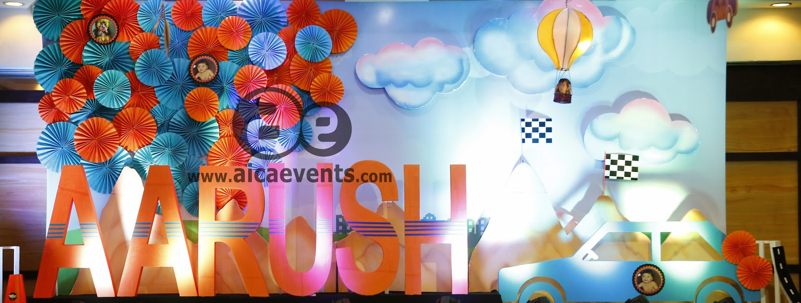 Aicaevents aarush 1st birthday celebrations for 1st birthday stage decoration
