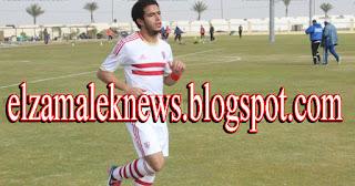 عمر جابر إبراهيم لاعب وسط الزمالك الدولي