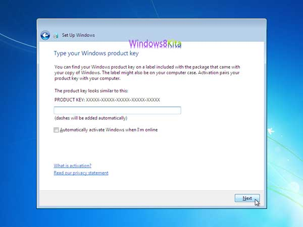 Panduan Cara Instal Windows 7 step 23