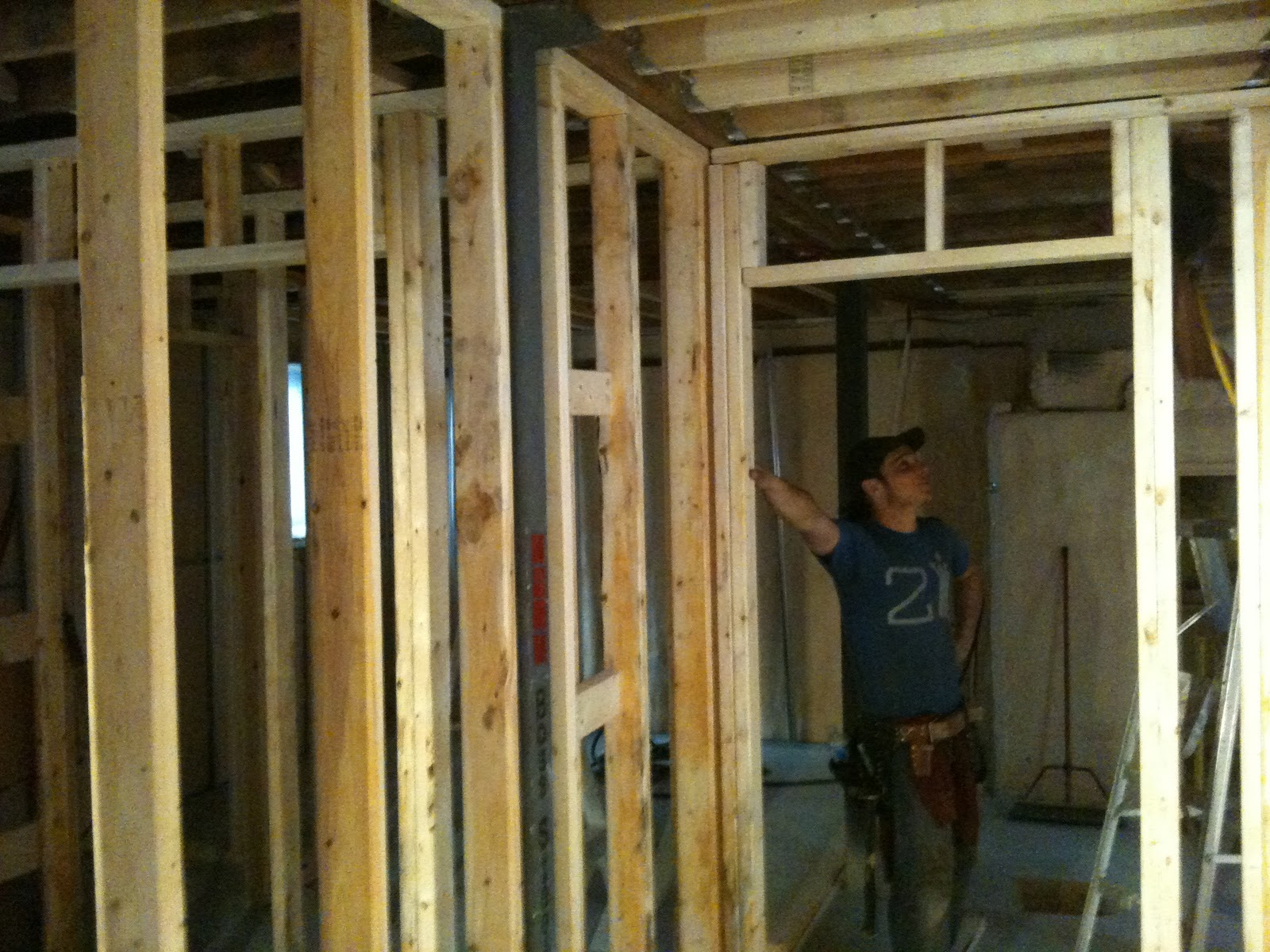 The Reno Coach Passive House Project in Toronto Basement wall