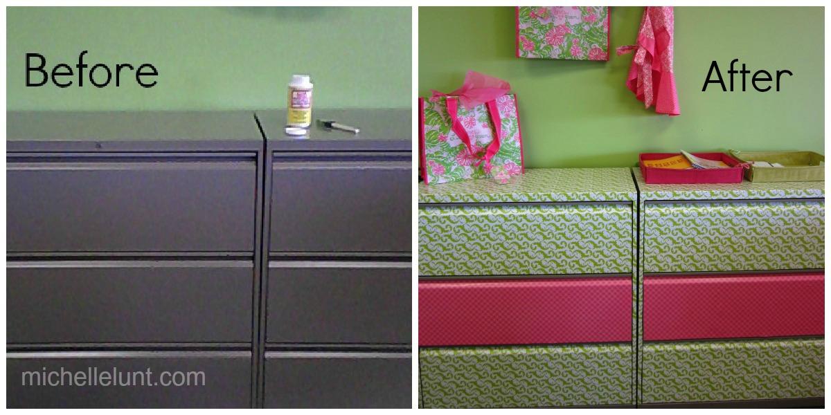 Honey I'm Home: Mod Podge Filing Cabinets