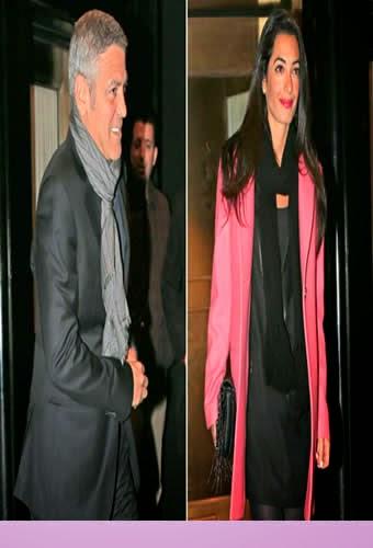 George Clooney Con Nueva Novia