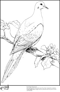 free doves coloring pages to print