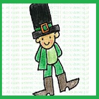 leprechaun, St. Patrick's day, how to draw leprechaun