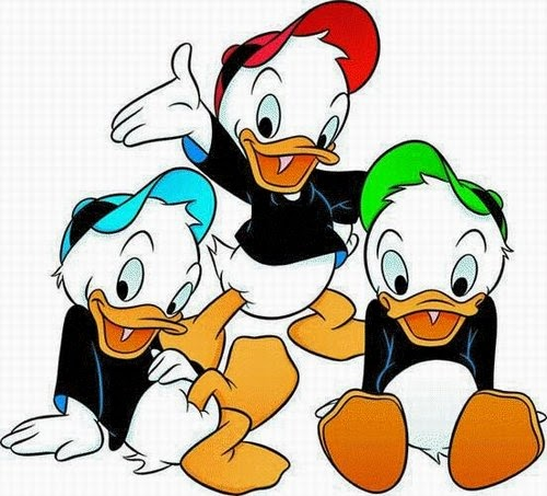 Dibujo Jorgito-Juanito-Jaimito Disney