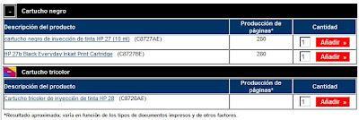 изображение Информация о ресурсе печати картриджей 27 и 28
