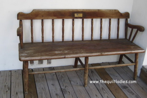 wooden bench outside