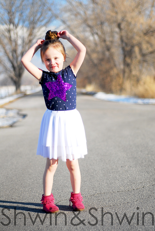 layered circle skirt