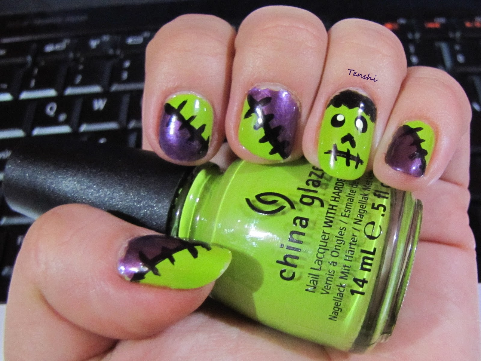 Nails by Tenshi: #Manis de Halloween: Frankenstein