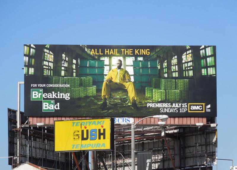 Breaking Bad season 5 All hail the king billboard