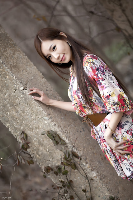 4 Lee Ji Min - Casual Outdoor-very cute asian girl-girlcute4u.blogspot.com