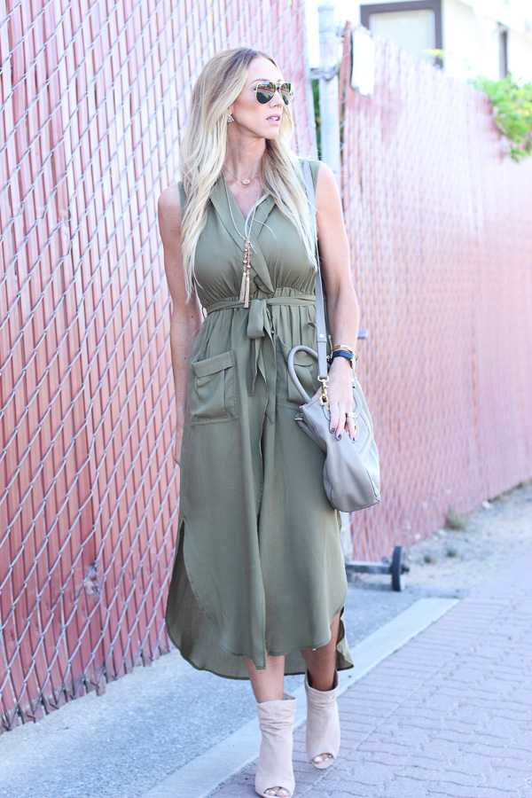 military green dress
