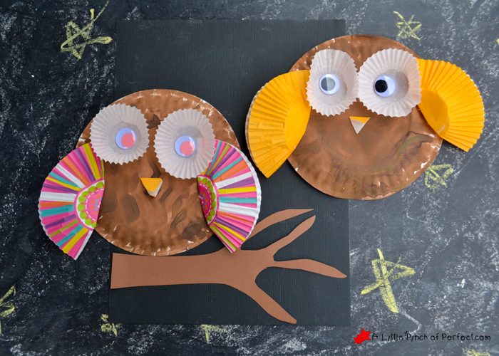 ... one of my kidu0027s favorite crafts (as of recently) because they keep playing with them. Itu0027s so adorable to watch as they wave their little owls around in ... & Paper Plate and Cupcake Liner Owl Craft for Kids -