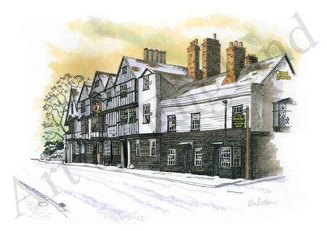 Kings Head Chigwell painting