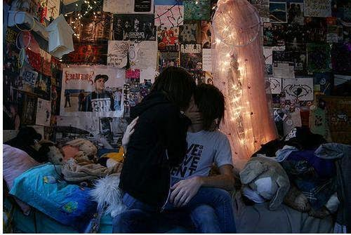 Romantic Couple kiss