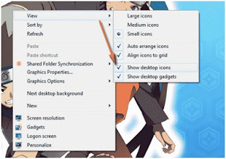 Cara memunculkan dan menyembunyikan icon program di Desktop windows