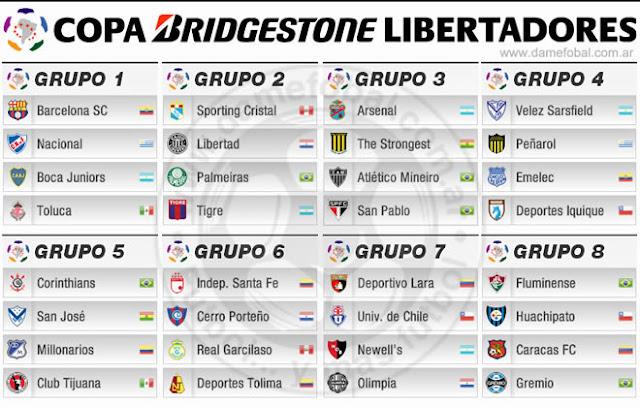 copa libertadores 2013 equipos fixture