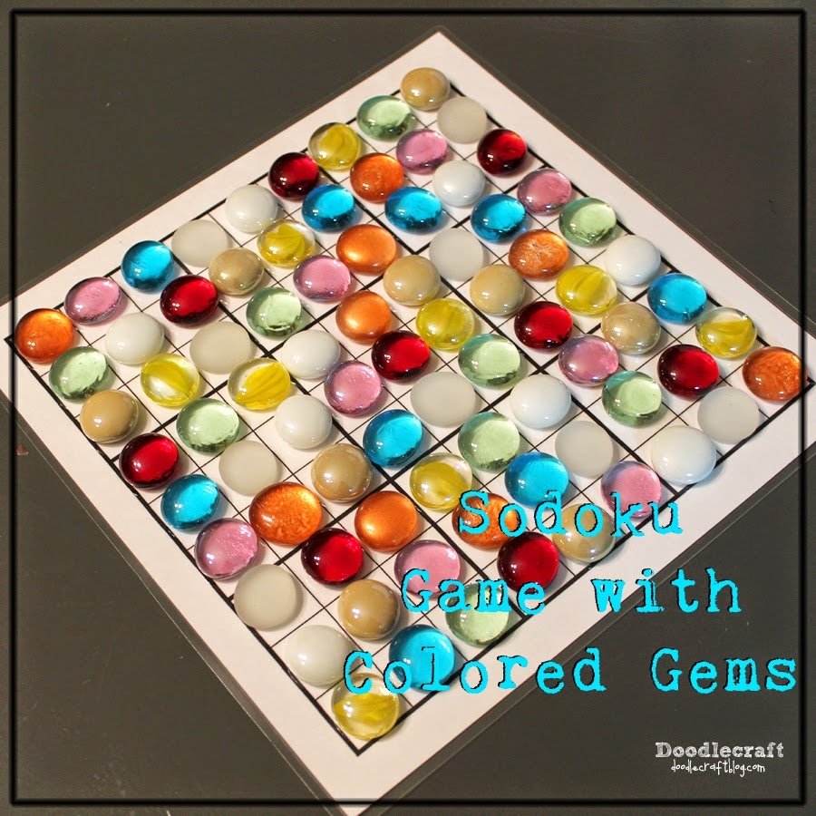 Doodlecraft color coded sodoku game for Colored stones for crafts