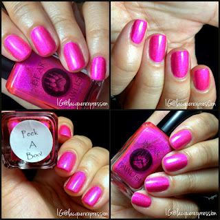 swatch and review of peek a boo nail  polish by bear pawlish