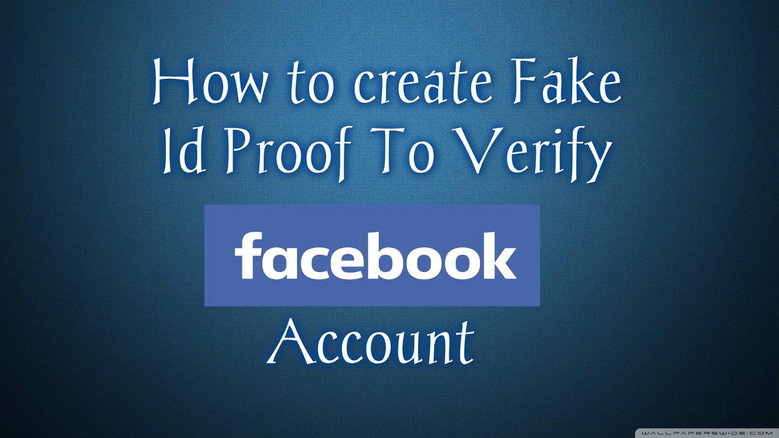 how to create a fake account How to open a truly anonymous bank account but all these site's are like paypal, but you can create an account with an fake id ( they know, they don't care.