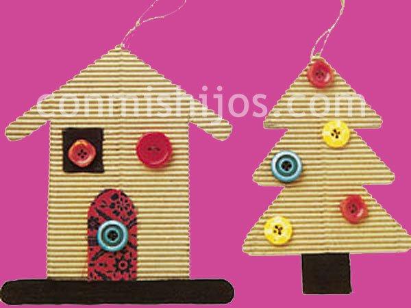 Cosas de reli trabajos navide os - Arbol de navidad hecho en casa ...
