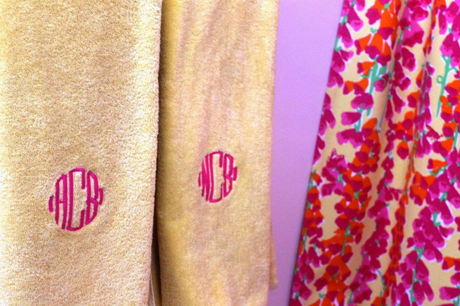 lilly pulitzer bathroom design monogrammed bath towel garnet hill